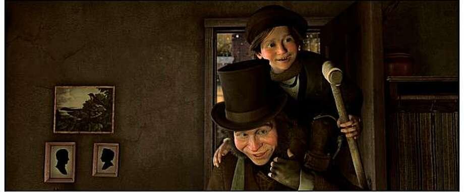 "Bob Cratchit, Tiny Tim (GARY OLDMAN) in ""Disney's A Christmas Carol."" Photo: ""©ImageMovers Digital LLC. All R"