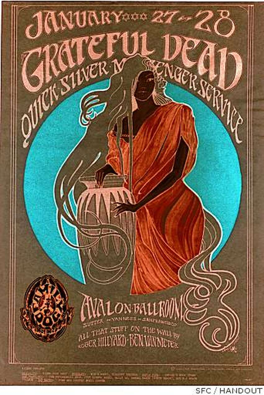 Stanley Mouse and Alton Kelley designed this poster for a Grateful Dead show at San Francisco's Avalon Ballroom.