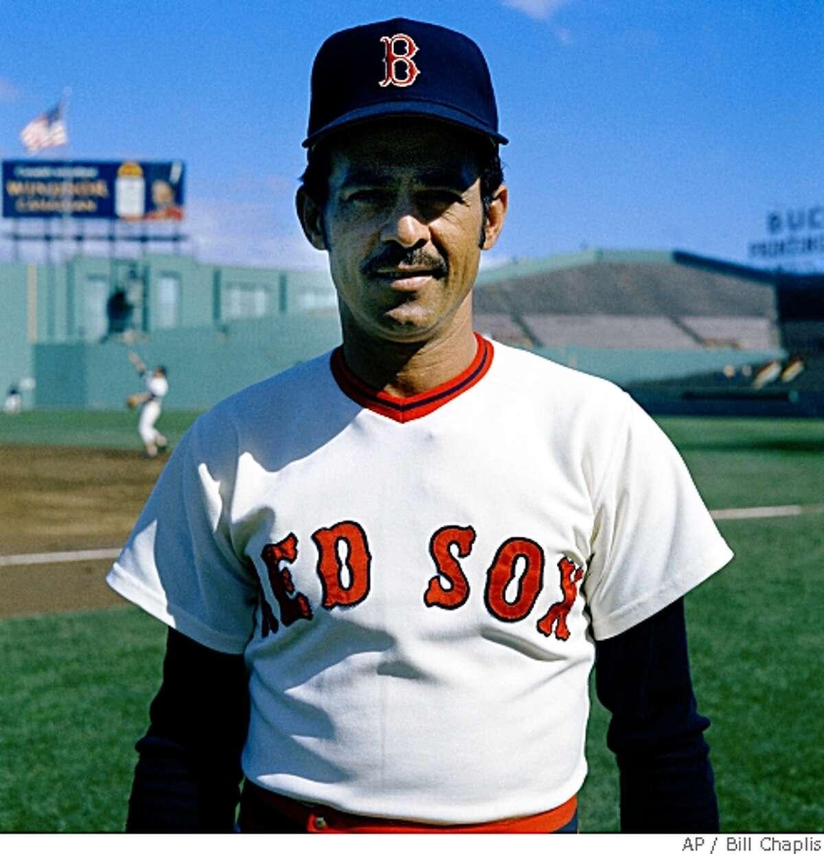 Luis Aparacio, shortstop for the Boston Red Sox, 1972. (AP Photo/Bill Chaplis)