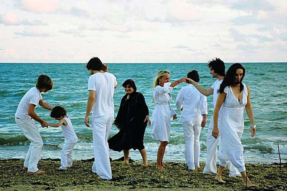 "Agnes Varda and her family in ""The Beaches of Agnes. Photo: Courtesy Of The Cinema Guild"