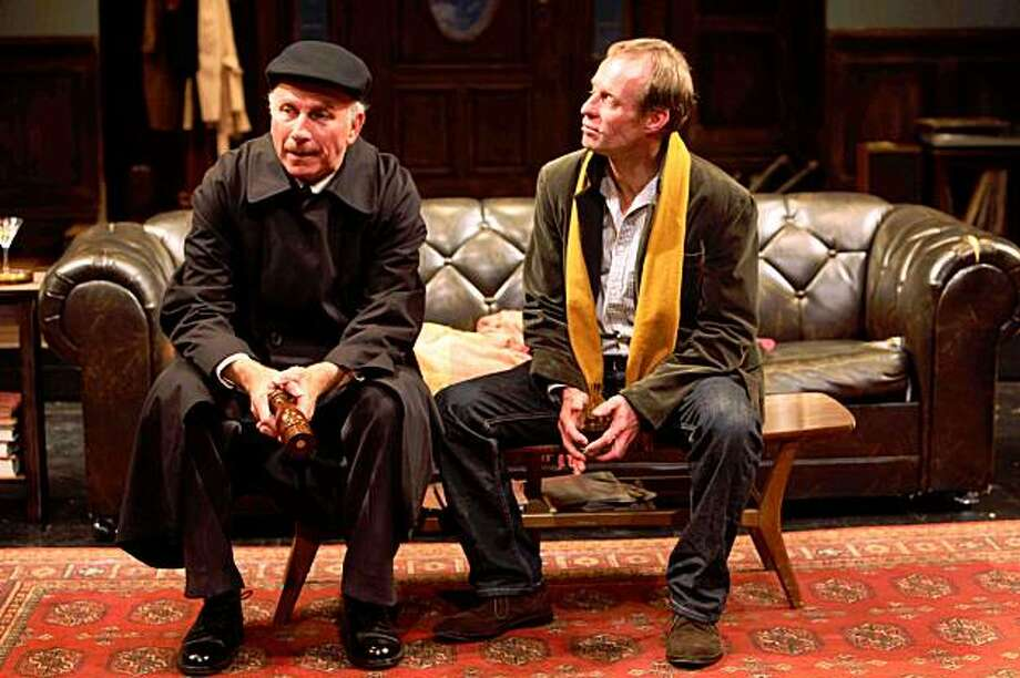 """Charles Dean (left) as Francis and Rod Gnapp at Tom in """"Mrs. Whitney,"""" a world premiere by John Kolvenbach at the Magic Theatre Mrs. Whitney at Magic Theatre.  Left to right: Charles Dean (Francis), Rod Gnapp (Tom).  Photo by Jennifer Reiley. Photo: Jennifer Reiley"""