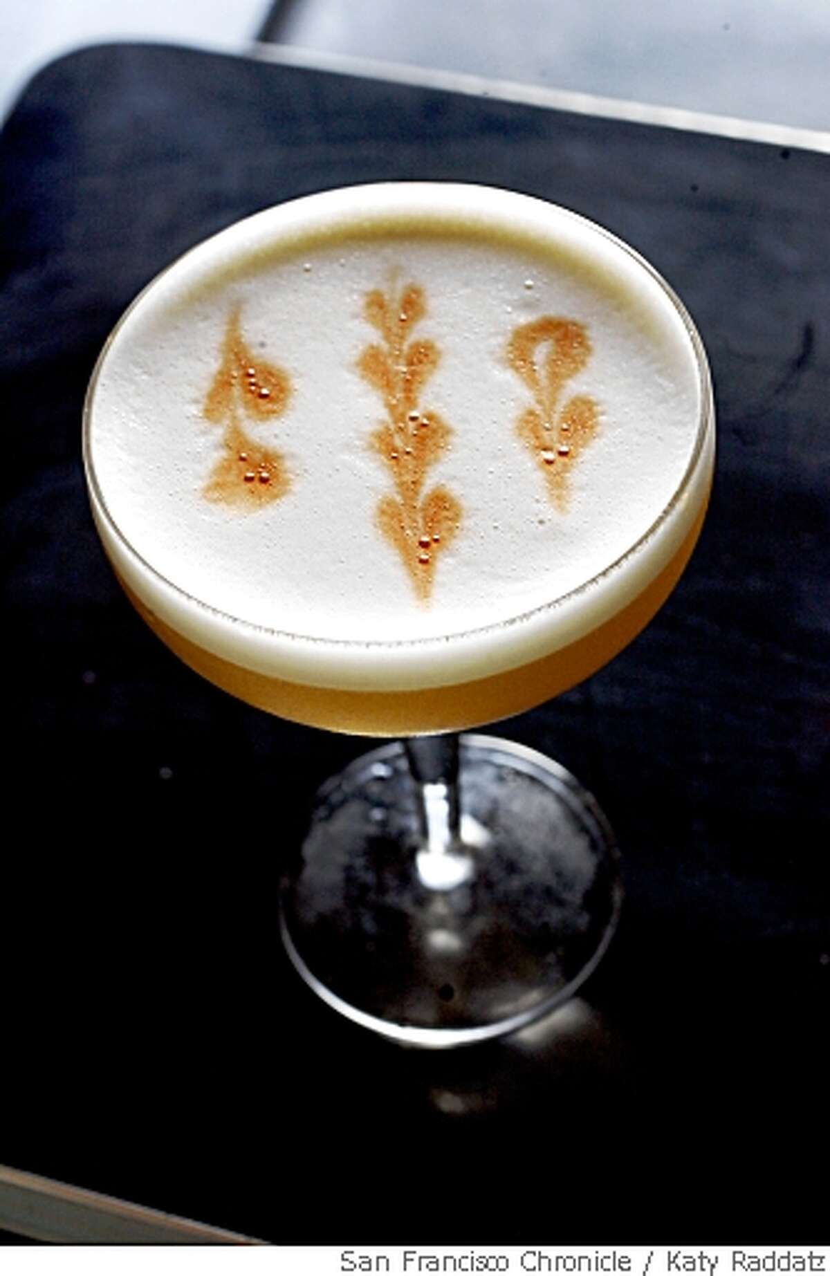 A drink called Filibuster, served at Flora, in Oakland, Calif. on Wednesday May 14, 2008.