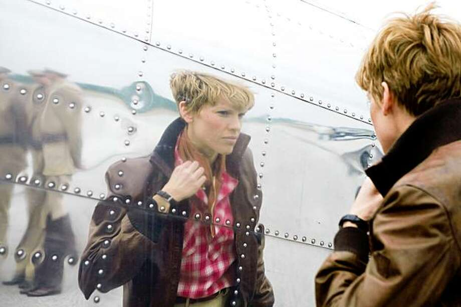 "This photo released by Fox Searchlight shows  Hilary Swank as Amelia Earhart in a scene from ""Amelia"". (AP Photo/Fox Searchlight,Ken Woroner)**NO SALES** Photo: Ken Woroner, AP"