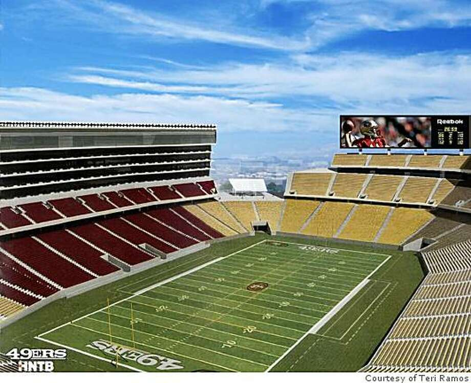 This undated handout picture shows a rendering of the 49ers proposed stadium in Santa Clara. Photo: Courtesy Of Teri Ramos, Teri Ramos