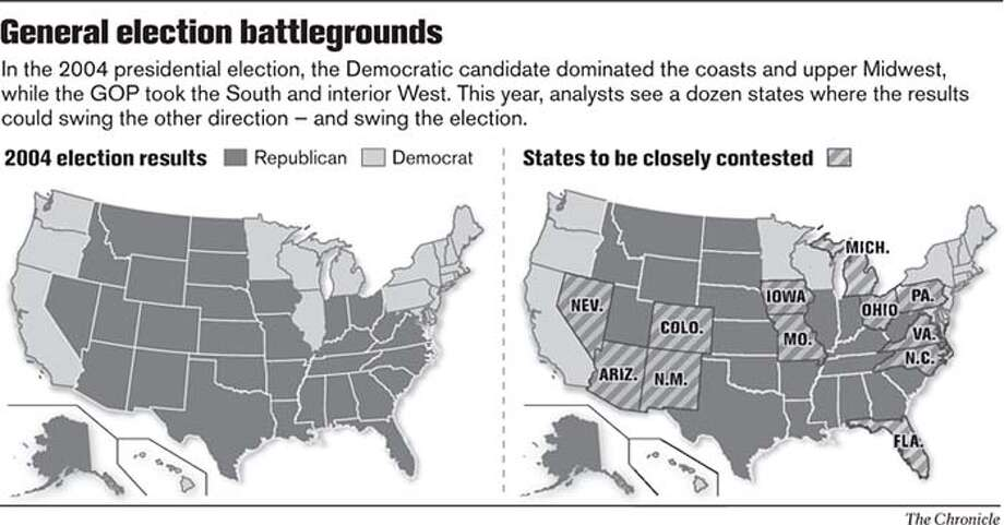 General election battlegrounds. Chronicle Graphic