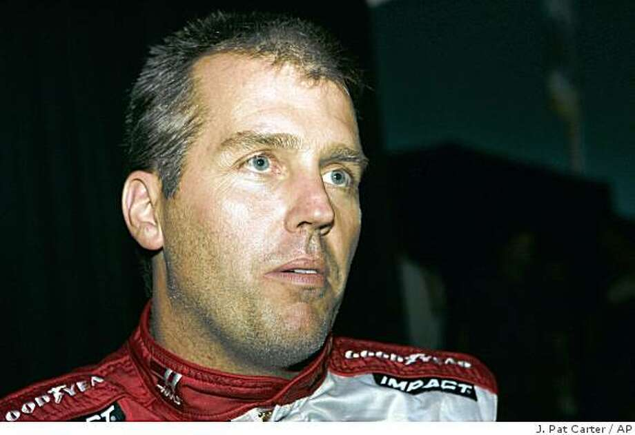 FILE - In this Feb. 7, 2008, file photo, NASCAR driver Jeremy Mayfield poses for photos at media day in Daytona Beach, Fla. Mayfield has been suspended indefinitely after failing a random drug test. (AP Photo/J. Pat Carter, File) Photo: J. Pat Carter, AP