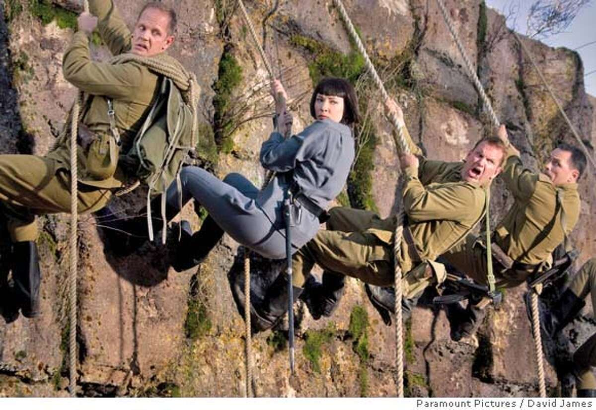 Cate Blanchett (center) is the villainous Irina Spalko, who is determined to beat Indiana Jones in finding the Crystal Skull in