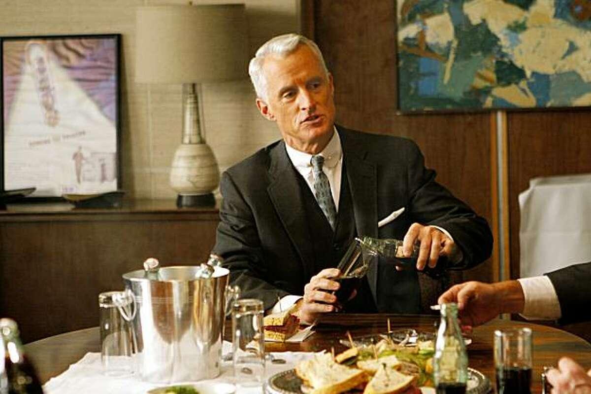John Slattery plays Roger Sterling in AMC's original series Mad Men. John Slattery plays Roger Sterling in AMC's original series Mad Men.