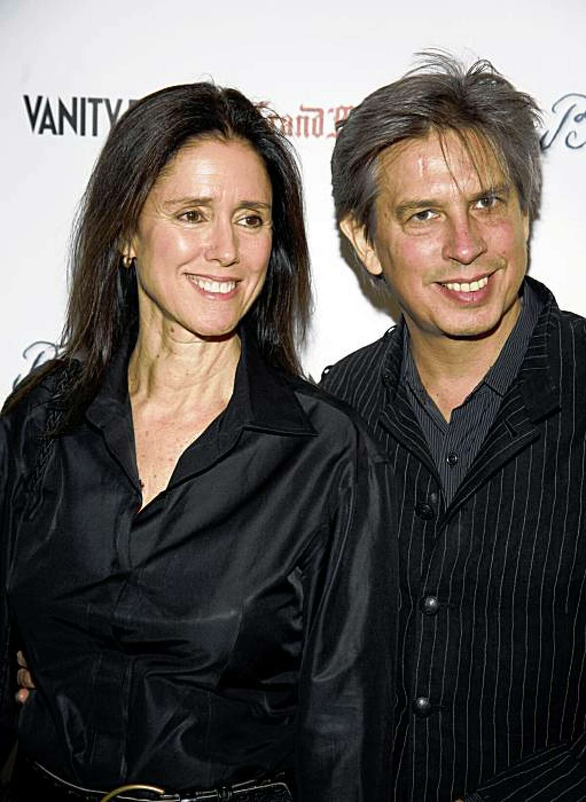 Director Julie Taymor and her husband, composer Elliot Goldenthal, arrive at the premiere of the film 'Bright Star' in New York, Monday, Sept. 14, 2009. (AP Photo/Andy Kropa)