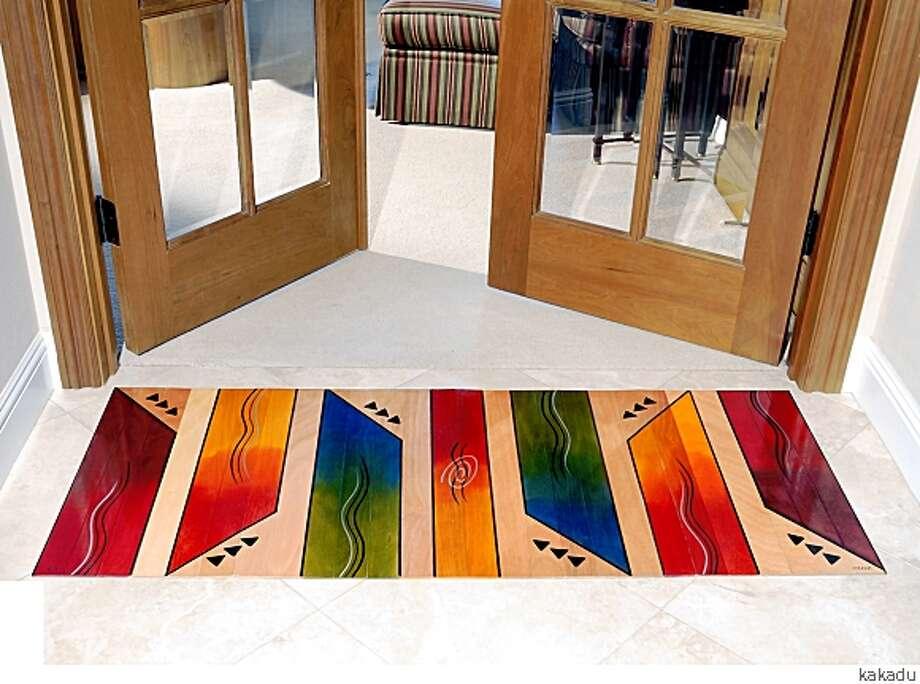 Around the House: Wooden floor decor