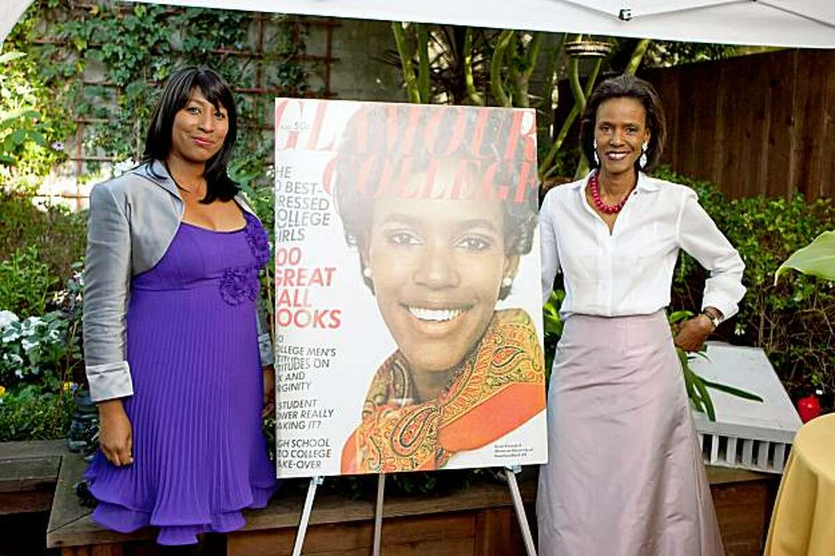 Mireille Schwartz and her mother, Katiti Kironde II, the first black woman on the cover of a major fashion magazine, Glamour, in 1968. A party to celebrate the famous first was held Oct. 9 2009 in San Francisco, coincidentally the same day that the first black president, Barack Obama, won the Nobel Peace Prize.