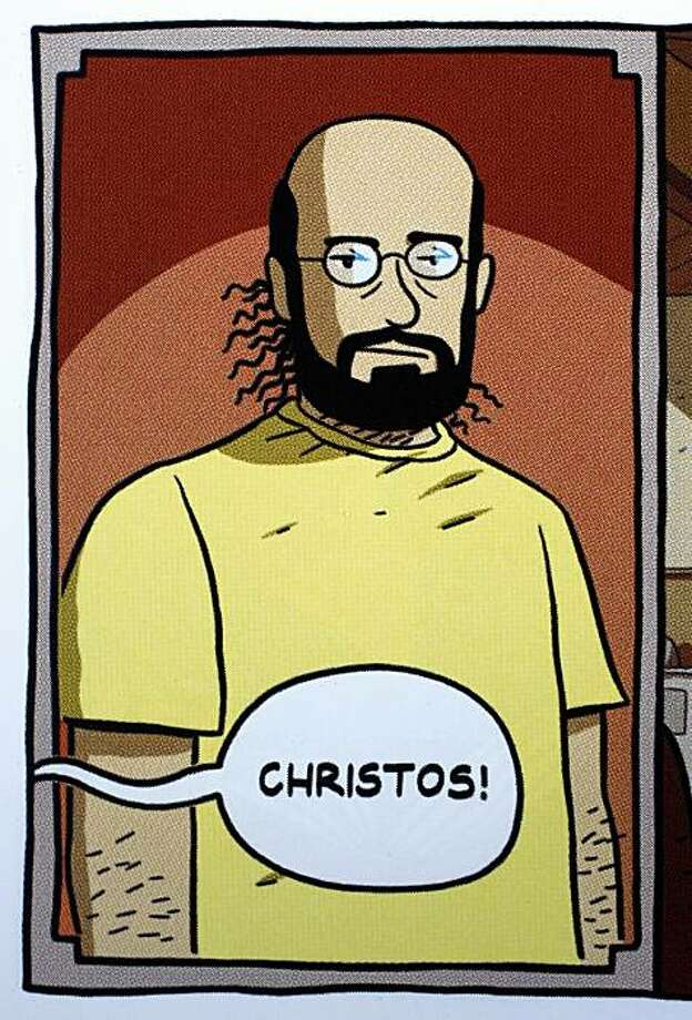 "Computer Science professor Christos Papadimitriou appears as a character in a graphic novel he co-authored titled, ""Logicomix"". Photo: From ""Logicomix"""