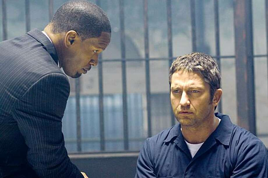 "Jamie Fox and Gerard Butler star in Overture Films', ""LAW ABIDING CITIZEN."" Photo: John Baer, Overture Films"