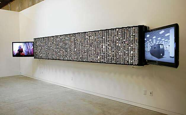 Time Capsule Triptych, 2009, by Ant Farm, videos and digital inventory of time capsule, dimensions variable.The Southern Exposure gallery will have the grand opening of their new building at 3030 20th St. in San Francisco, Calif. on Saturday, Oct. 17, 2009. Photo: Russell Yip, The Chronicle