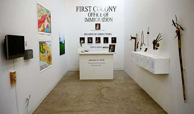 First Colony, 2009 by Lordy Rodriguez is a mixed media installation.  The Southern Exposure gallery will have the grand opening of their new building at 3030 20th St. in San Francisco, Calif. on Saturday, Oct. 17, 2009. Photo: Russell Yip, The Chronicle