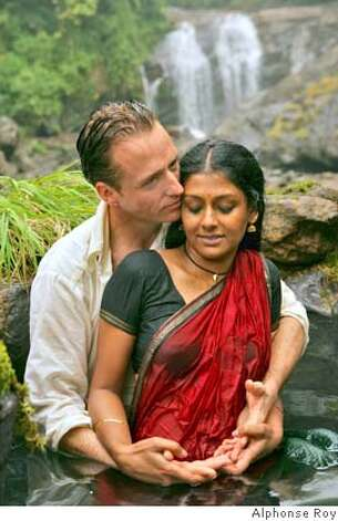 "Linus Roache (L) and Nandita Das (R) in ""Before the Rains,"" Merchant Ivory's latest drama taking place in southern India in the late 1930s during the country's growing nationalist movement. The movie opens Friday May 18. Photo credit: Alphonse Roy BEFORE THE RAINS, written by the late Cathy Rabin, The film explores the turmoil of a man who is divided between two worlds and the choices he makes to gain his own freedom and embrace his true identity. Photo: Alphonse Roy"