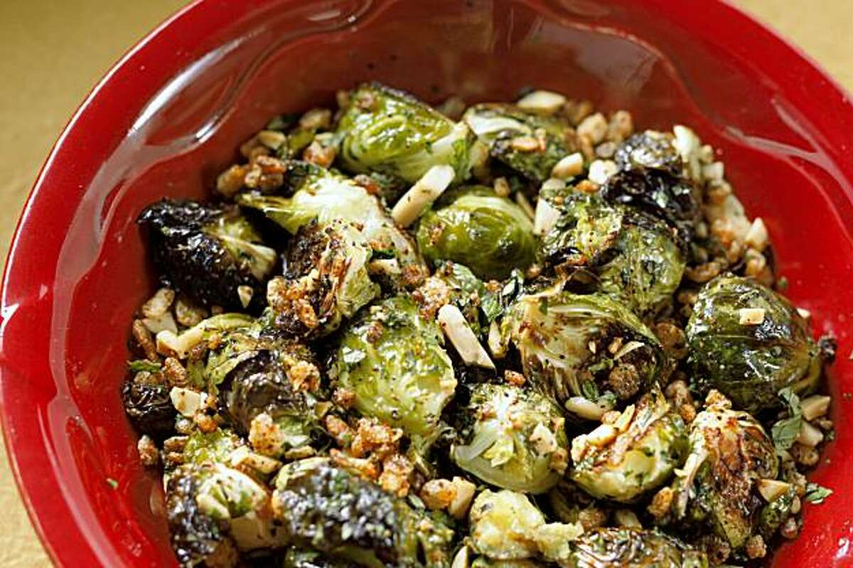 Asian-Inspired Roasted Brussels Sprouts in San Francisco, Calif., on October 14, 2009. Food styled by Rose Amoroso.