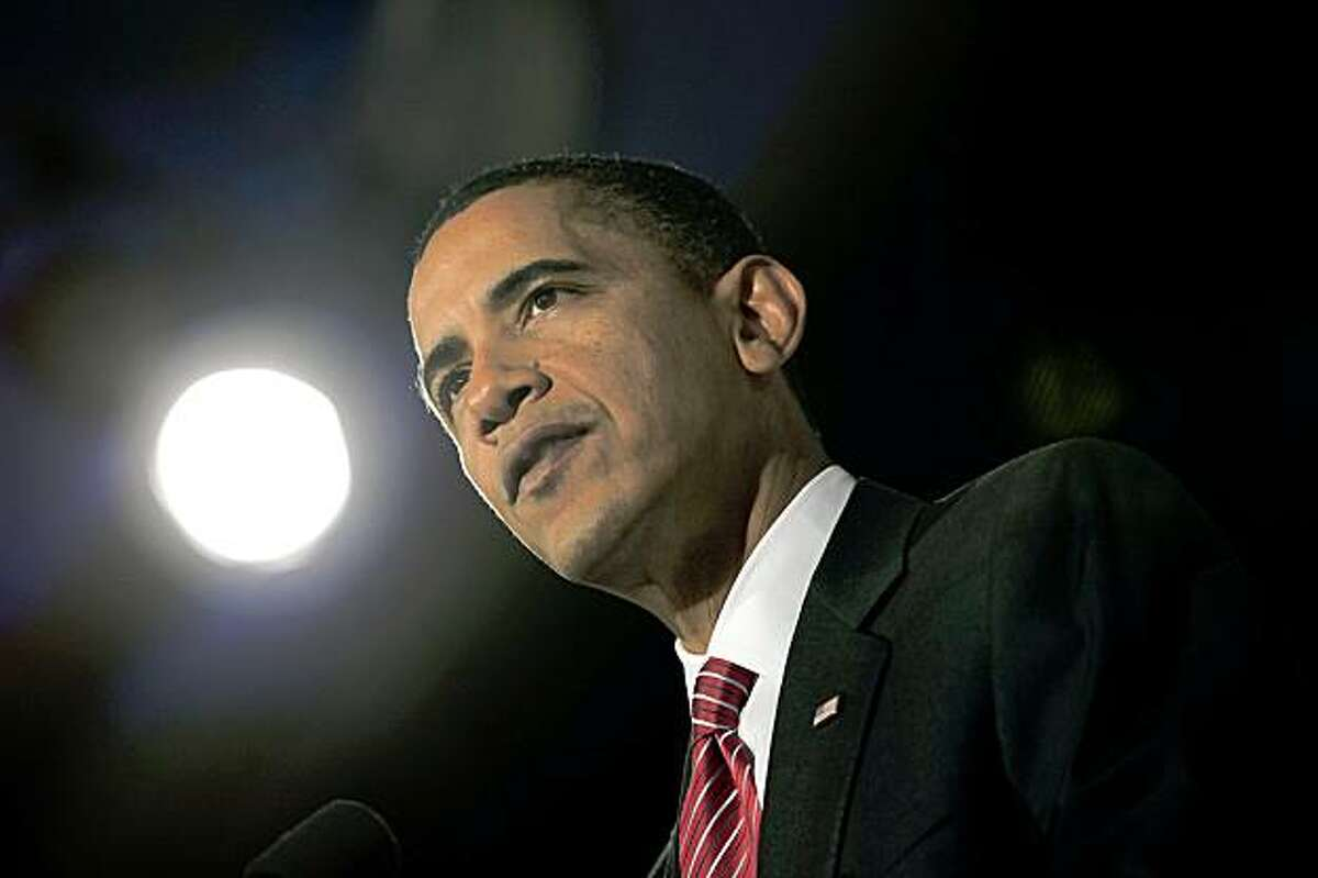 WASHINGTON - OCTOBER 14: (AFP OUT) U.S. President Barack Obama delivers remarks at an event at the Ritz-Carlton Hotel celebrating the Edward M. Kennedy Institute for the United States Senate October 14, 2009 in Washington, DC. The Institute will be dedicated to educating the general public, students, teachers, new senators, and Senate staff about the role and importance of the Senate. A major goal of the Institute will be to improve civic education in the nation and educate and inspire a new generation of active citizens and legislators. (Photo by Aude Guerrucci-Pool/Getty Images)