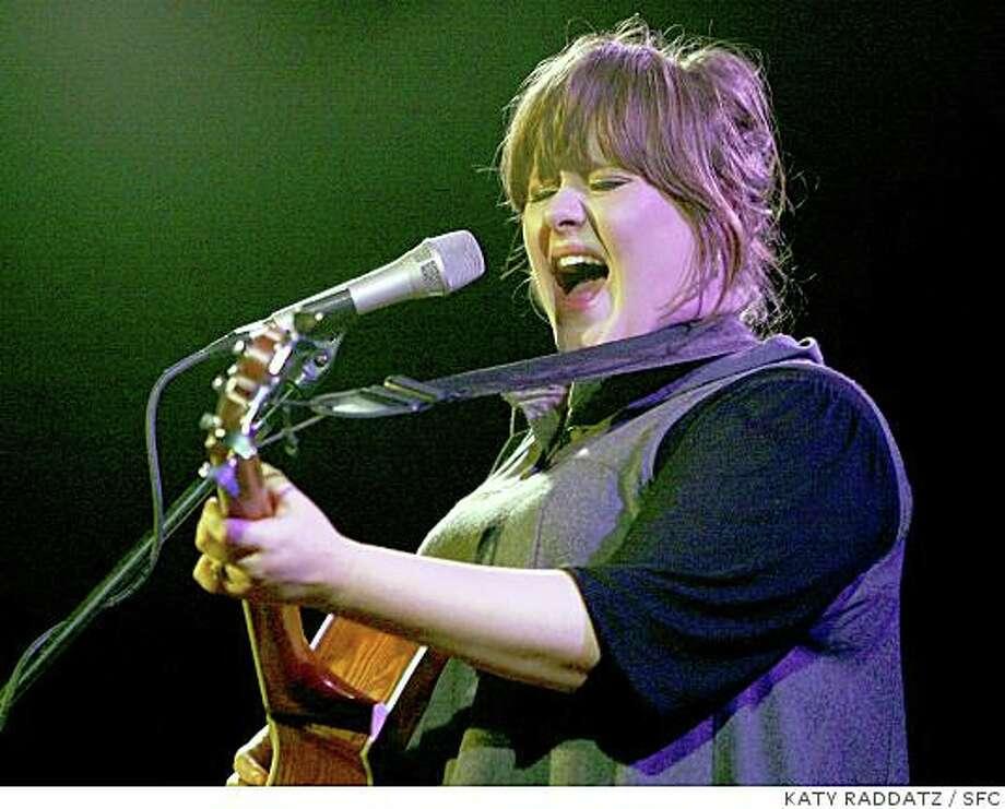 Adele in concert at Bimbo's 365 Club in San Francisco, Calif.  on Thursday May 22, 2008. Photo: KATY RADDATZ, SFC