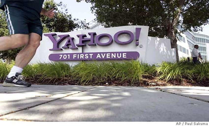 ###Live Caption:A jogger runs past Yahoo headquarters in Sunnyvale, Calif., Monday, May 5, 2008. Yahoo shares fell in early trading Monday as hopes for the once-dominant search engine dimmed following Microsoft's withdrawal of a $47.5 billion takeover bid. (AP Photo/Paul Sakuma)###Caption History:A jogger runs past Yahoo headquarters in Sunnyvale, Calif., Monday, May 5, 2008. Yahoo shares fell in early trading Monday as hopes for the once-dominant search engine dimmed following Microsoft's withdrawal of a $47.5 billion takeover bid. (AP Photo/Paul Sakuma)###Notes:Yahoo, Microsoft###Special Instructions: