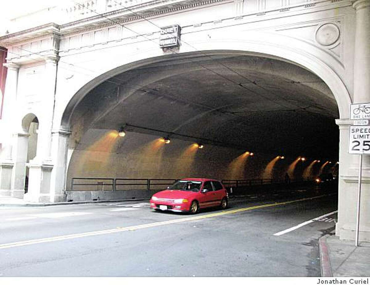 The lights in the Stockton Tunnel are working again.