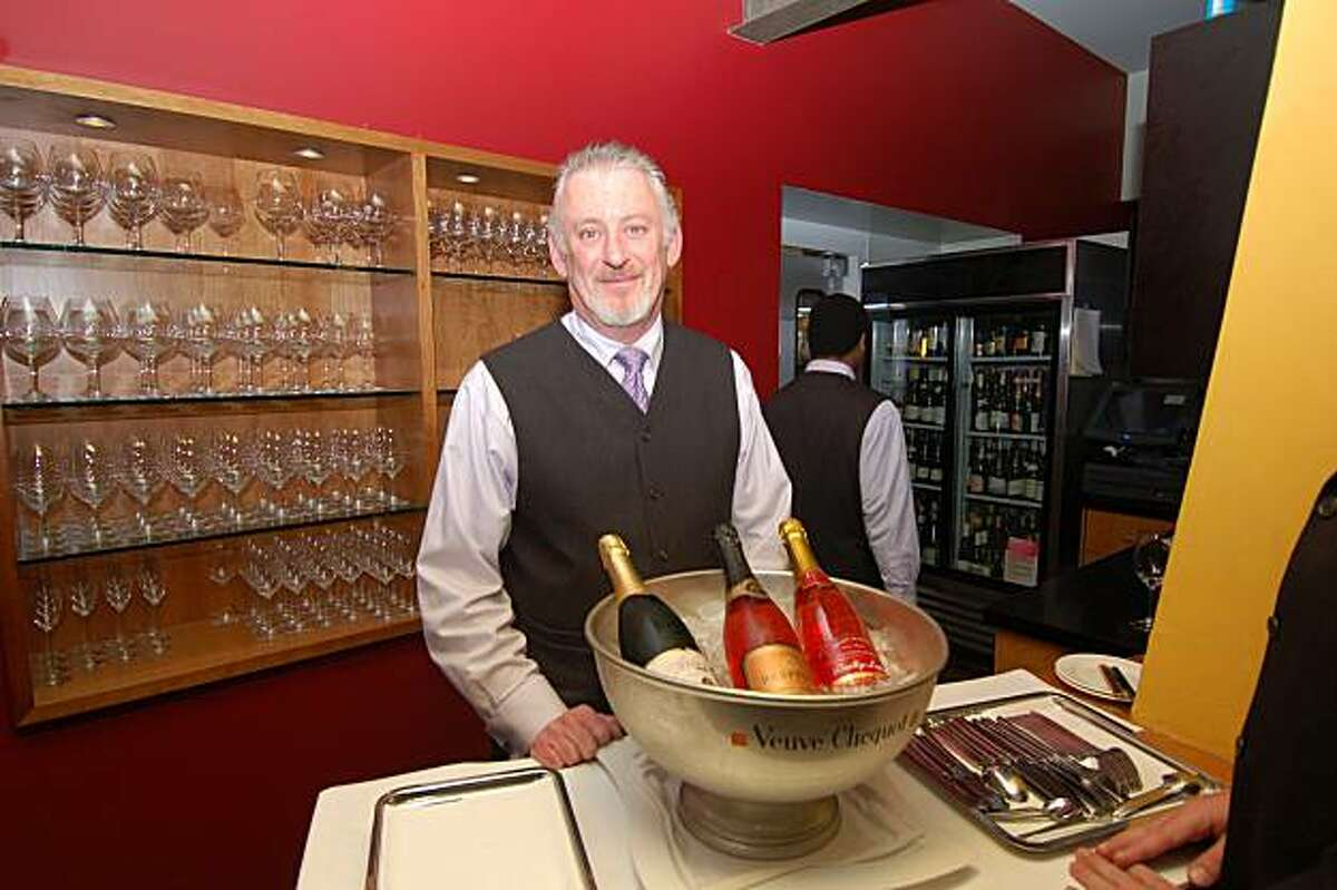 Champagne is chilled and ready to be served at Manresa in Los Gatos, a Michelin two-star and Chronicle four-star restaurant.