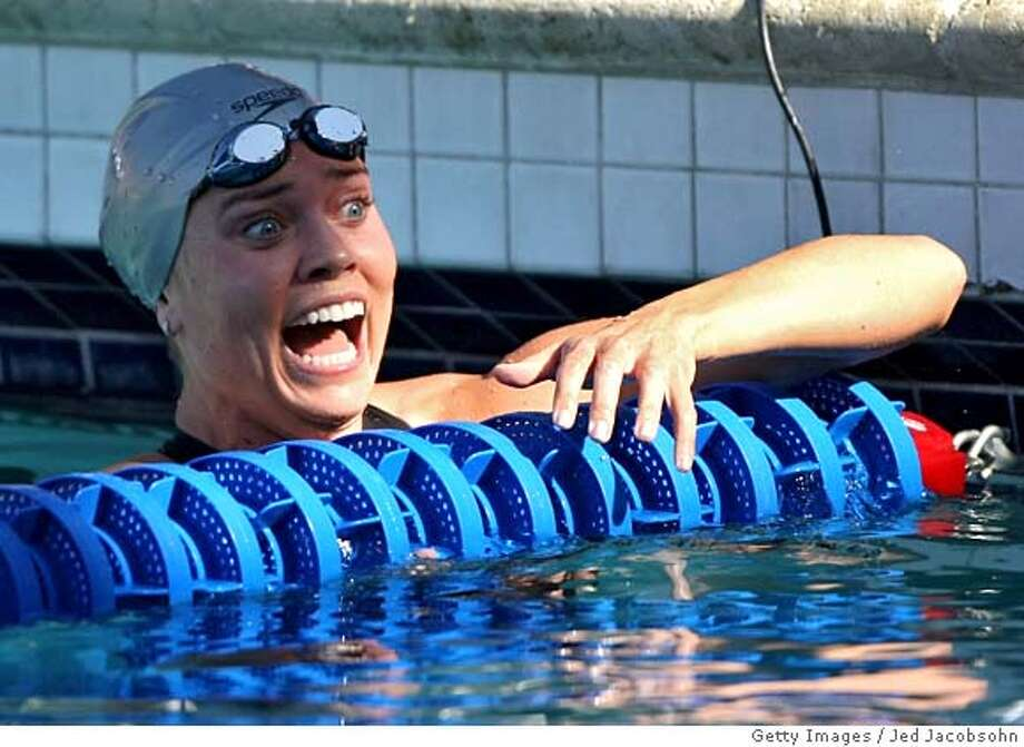 ###Live Caption:SANTA CLARA, CA - MAY 16: Natalie Coughlin of the USA reacts after finishing second in the 100m freestyle final during the Santa Clara XLI International Swim Meet, part of the 2008 USA Swimming Grand Prix Series, on May 16, 2008 at the Santa Clara Swim Club in Santa Clara, California. (Photo by Jed Jacobsohn/Getty Images)###Caption History:SANTA CLARA, CA - MAY 16: Natalie Coughlin of the USA reacts after finishing second in the 100m freestyle final during the Santa Clara XLI International Swim Meet, part of the 2008 USA Swimming Grand Prix Series, on May 16, 2008 at the Santa Clara Swim Club in Santa Clara, California. (Photo by Jed Jacobsohn/Getty Images)###Notes:41st Toyota Santa Clara International Grand Prix Day 2###Special Instructions: Photo: Jed Jacobsohn