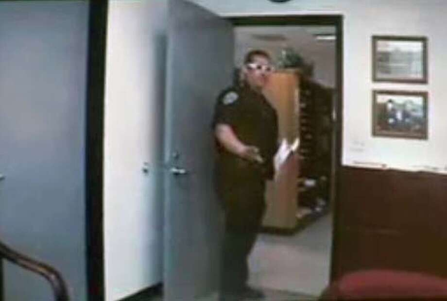 San Francisco police officer Chris Damonte was featured in a controversial video produced in 2005 by fellow officer Andrew Cohen.  FRAMEGRAB FROM VIDEO RELEASED BY THE MAYOR'S OFFICE IN 2005  Ran on: 05-11-2008  Officer Christopher Damonte is shown in a controversial 2005 video, provided by the mayor's office, involving police officers. Photo: HANDOUT