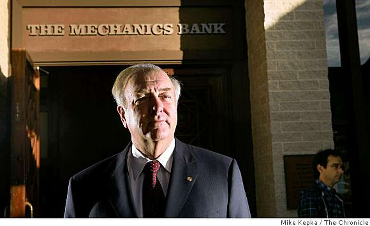 Steve Buster, CEO of Mechanics Bank, poses for a portrait in front of his office on Monday, Dec. 15, 2008 in Richmond, Calif. Buster tells readers what the recent economic crisis looks like the bank's perspective.