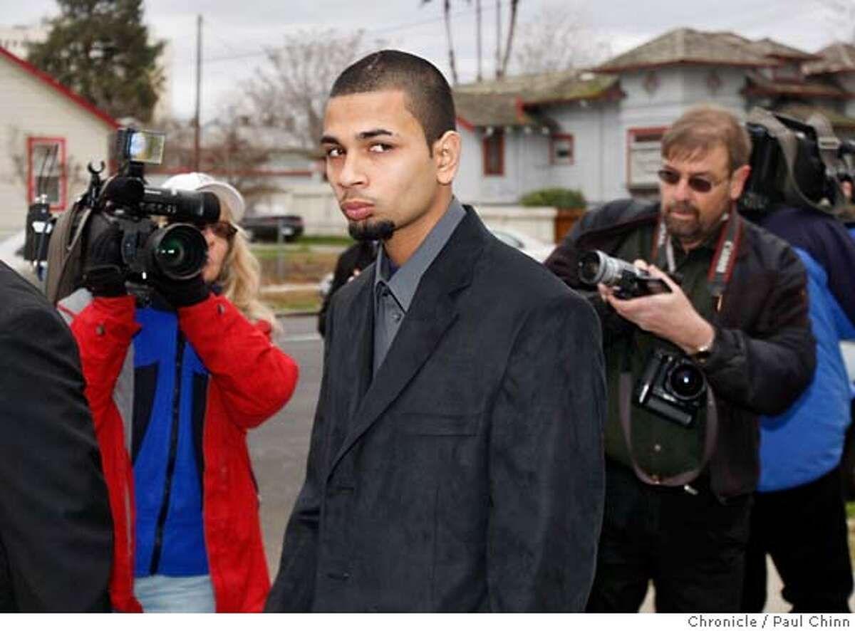 Paul Dhaliwal, one of the two brothers injured in the tiger attack, walks past news photographers after the funeral services for 17-year-old Carlos Sousa, Jr. in San Jose, Calif. on Tuesday, Jan. 8, 2008. Sousa was killed in the Christmas Day tiger attack at the San Francisco Zoo. PAUL CHINN/The Chronicle **Paul Dhaliwal MANDATORY CREDIT FOR PHOTOGRAPHER AND S.F. CHRONICLE/NO SALES - MAGS OUT