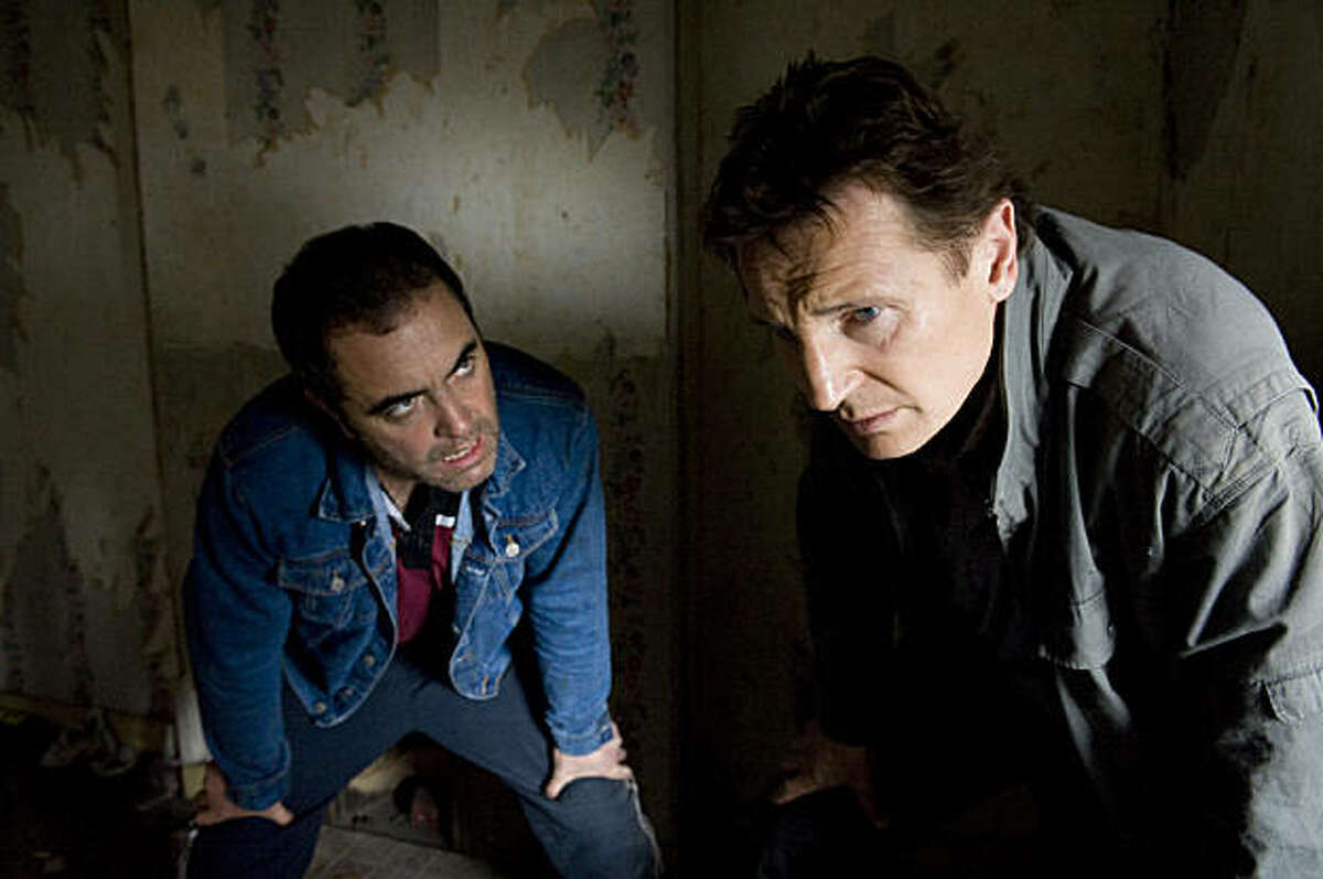 James Nesbitt as Joe Griffen and Liam Neeson as Alistair Little in FIVE MINUTES OF HEAVEN directed by Oliver Hirschbiegel Photo credit: © Reconciliation Limited 2009 An IFC Films release