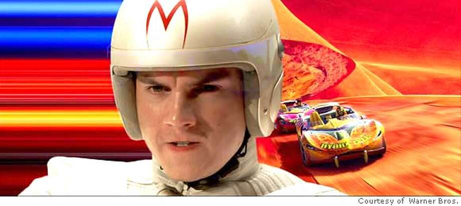 """###Live Caption:This image released by Warner Bros. Entertainment shows actor Emile Hirsch as Speed Racer in a scene from the action adventure """"Speed Racer."""" (AP Photo/Warner Bros. Entertainment) ** NO SALES **###Caption History:This image released by Warner Bros. Entertainment shows actor Emile Hirsch as Speed Racer in a scene from the action adventure """"Speed Racer."""" (AP Photo/Warner Bros. Entertainment) ** NO SALES **###Notes:Emile Hirsch###Special Instructions:HANDOUT BY WARNER BROS. NO SALES. NO ARCHIVE. EDITORIAL USE ONLY. AP provides access to this publicly distributed HANDOUT photo to be used only to illustrate news reporting or commentary on the facts or events depicted in this image. Photo: Warner Bros. Entertainment"""