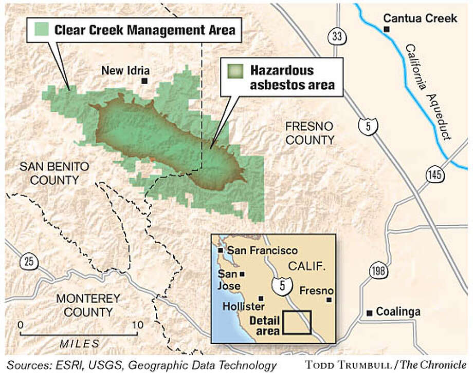 Clear Creek Management Area. Chronicle graphic by Todd Trumbull
