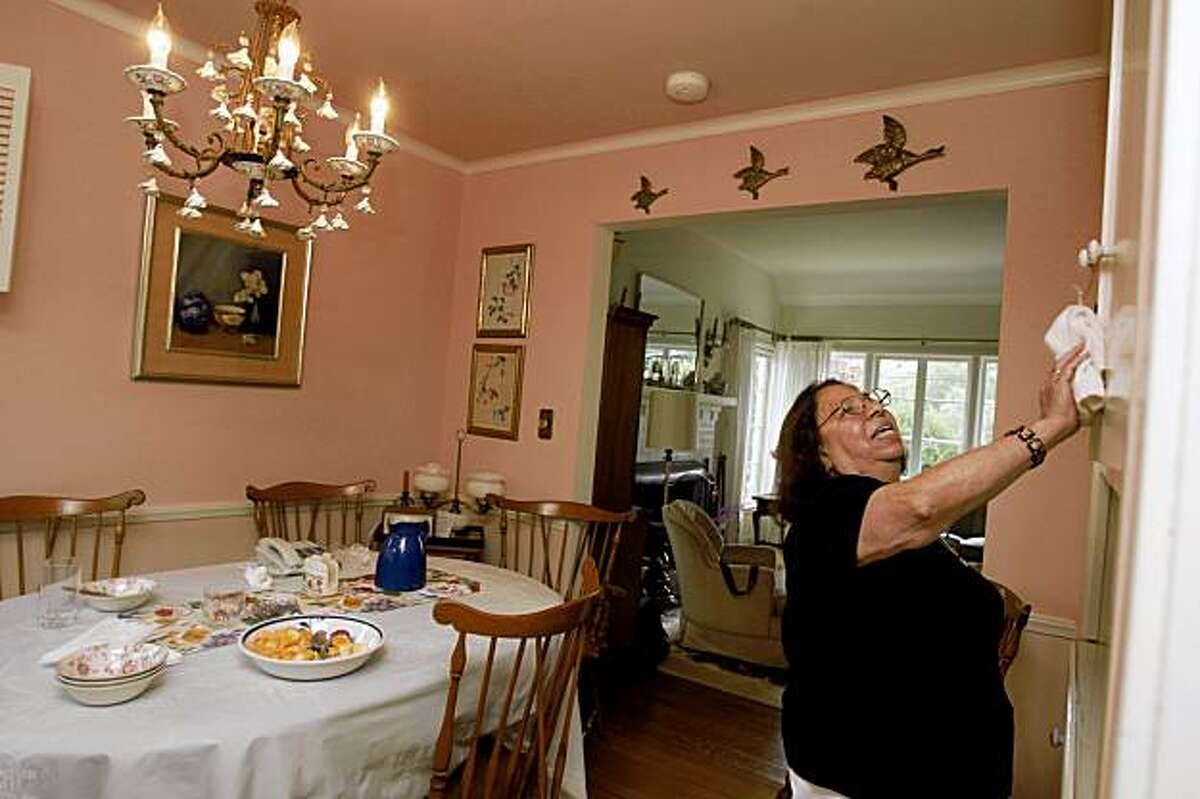 Vilma Serralta, housekeeper and nanny, at a home she housekeeps in Burlingame, Calif., on Monday, October 12, 2009. Serralta reached a cash settlement with an Atherton couple on her claims that they failed to pay her the minimum wage or overtime while working her 14 hours a day and six days a week for four years.