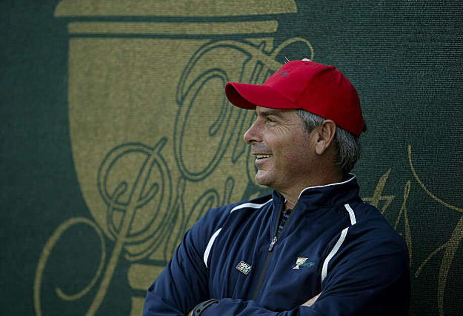 USA Team Captain Fred Couples was all smiles watching the action from the 18th green during round two, fourball matches of the  2009 President's Cup Golf Tournament on Friday October 9, 2009 at Harding Park Golf Course in San Francisco, Calif. Photo: Michael Macor, The Chronicle