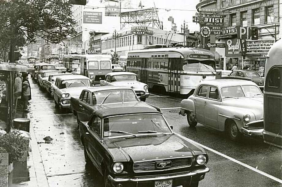 Place13.JPG April 25, 1966- Billboards were once a common staple on Market Street, seen here near Fifth Street decades ago. ken mclaughlin/staff photographer Photo: Ken Mclaughlin, Staff Photographer