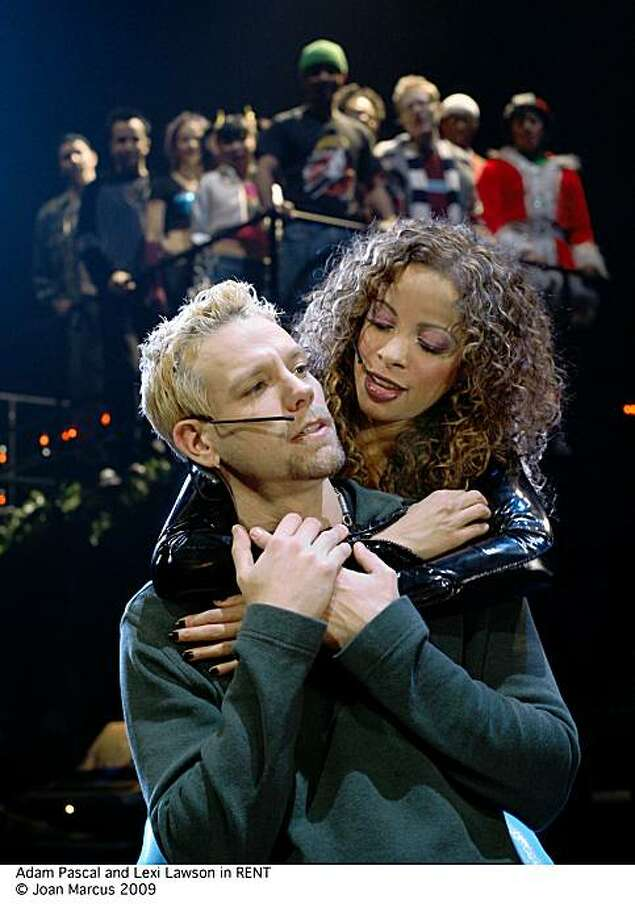 """Adam Pascal and Lexi Lawson in """"Rent."""" Photo: Joan Marcus"""