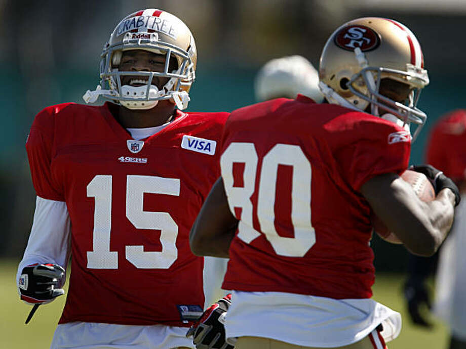 San Francisco 49ers wide receiver Michael Crabtree (15) participates in his first practice in Santa Clara. Photo: Paul Chinn, The Chronicle