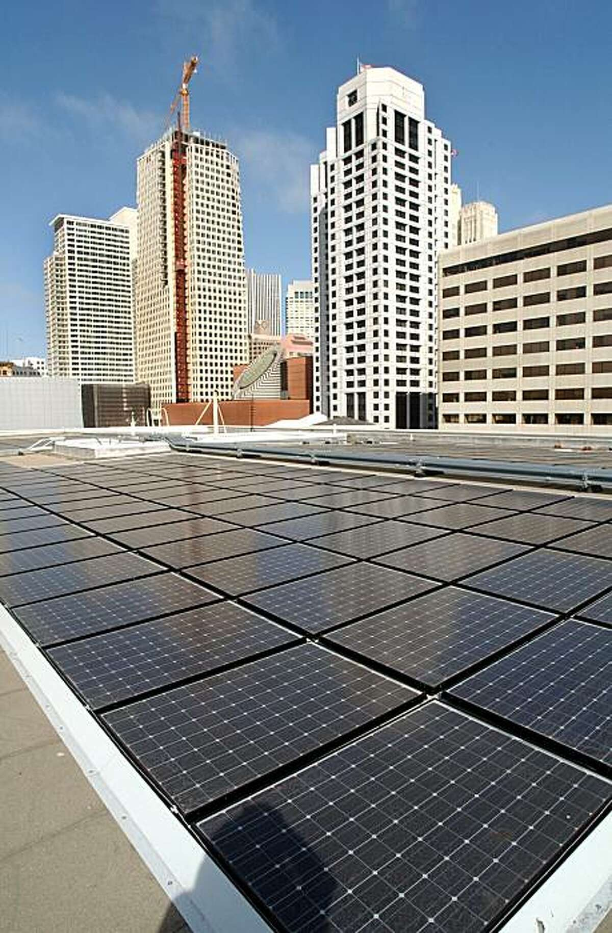 The city of San Francisco upped its commitment to solar power this week, choosing a local firm to build what will be the countryís third largest solar photovoltaic system. Five years ago, these solar were installed atop the Esplanade side of Moscone Center.