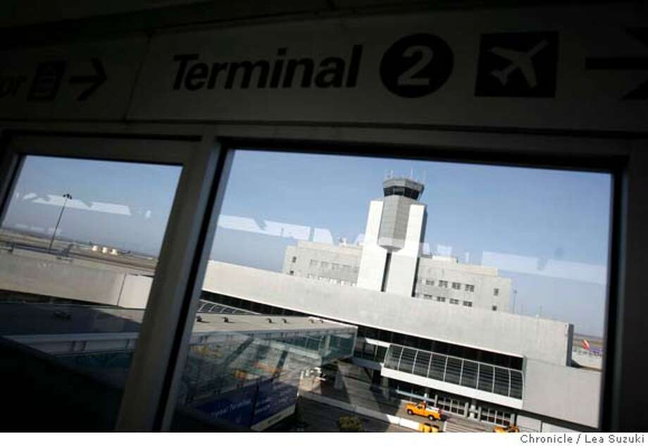 Terminal 2 at SFO on Monday May12, 2008.  Photo By Lea Suzuki/ San Francisco Chronicle Photo: Lea Suzuki
