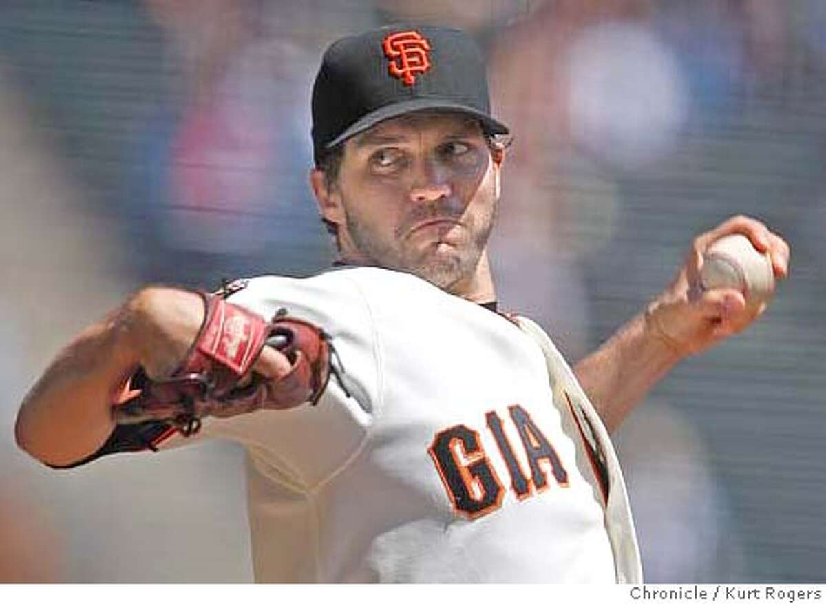 Barry Zito the Giants starting pitcher who went 6 innings On Wednesday April 16, 2008 in San Francisco, Calif Photo By Kurt Rogers / San Francisco Chronicle