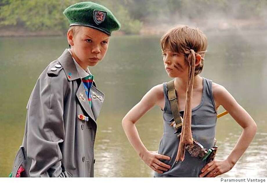"###Live Caption:Will Poulter and Bill Milner in ""Son of Rambow""###Caption History:Will Poulter as Carter and Bill Milner as Will in ""Son of Rambow,"" 2007, about misfits inspired by ""Rambo"" to make their own home movie.  Ran on: 03-11-2007  &quo;Son of Rambow,&quo; set in the 1980s, is about two misfit boys (played by Will Poulter, left, and Bill Milner) who, inspired by &quo;Rambo,&quo; make a home movie together.###Notes:###Special Instructions: Photo: Paramount Vantage"