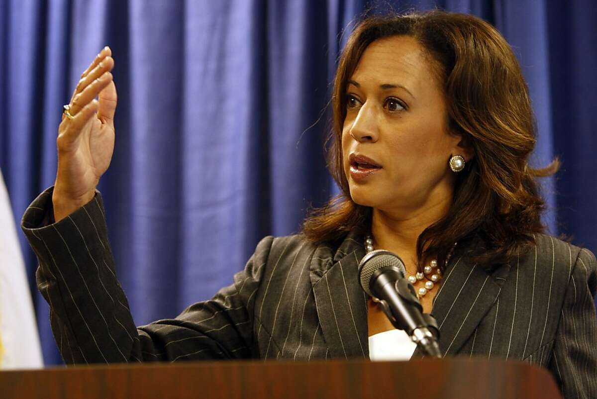 Attorney General Kamala Harris held a press conference to announce an enforcement action related to a wide-ranging mortgage fraud on Thursday, August 18, 2011 at the State Building in San Francisco, Calif.