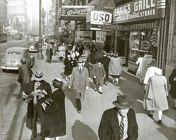 02/13/1947  Market and 6th Street, SF   3:00 pm Photo: Bob Campbell, The Chronicle