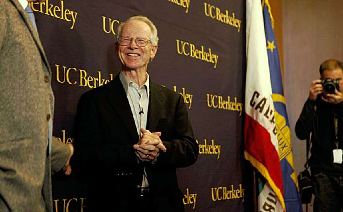 After winning the Nobel Prize for Economics, Oliver Williamson, an economist at the University of California, Berkeley held a press conference in Alumni House on Monday Oct. 12, 2009 in Berkeley, Calif.