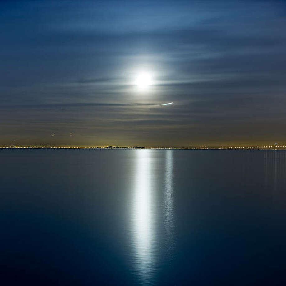 """Moon Rising, 12:29 a.m."" (2008) archival pigment print by Mark Jaremko  Photo: Mark Jaremko, Artspan, S.F."