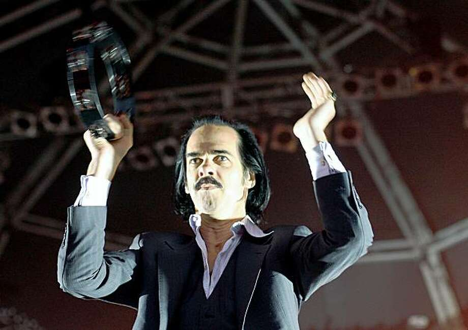 SYDNEY, AUSTRALIA - JANUARY 17:  Nick Cave and the Bad Seeds perform during All Tomorrows Parties on Cockatoo Island on January 17, 2009 in Sydney, Australia.  (Photo by Mark Metcalfe/Getty Images) Photo: Mark Metcalfe, Getty Images