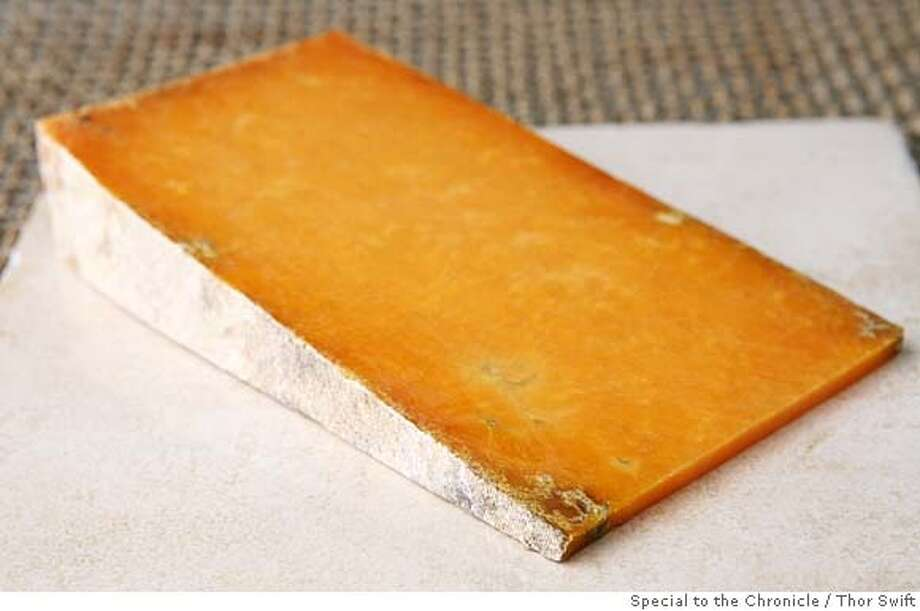 ###Live Caption:Sparkenhoe cheese for Cheese Course column photographed Thursday, April 10, 2008 at the San Francisco Chronicle studio.  Thor Swift For The San Francisco Chronicle###Caption History:Sparkenhoe cheese for Cheese Course column photographed Thursday, April 10, 2008 at the San Francisco Chronicle studio.  Thor Swift For The San Francisco Chronicle###Notes:photographer phone 415-652-1728###Special Instructions: Photo: Thor Swift