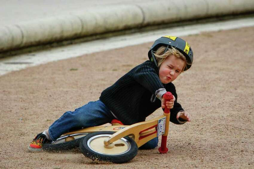 Injuries to children Bicycle injuries: The bike injury rate for children has gone up 430% over five years.