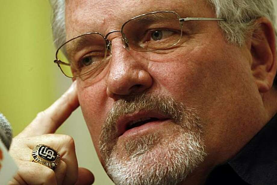 Year end remarks from Brian Sabean as the SF Giants season closes in San Francisco , Calif., on Monday, October 5, 2009. Photo: Liz Hafalia, The Chronicle